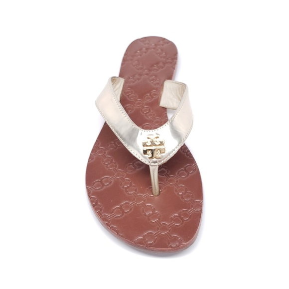 1a8b832b701fb0 Tory Burch  Monroe  Thong Sandal in Spark Gold